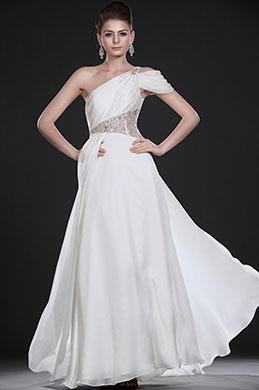eDressit  New Amazing White One Shoulder Evening Dress (00117107)