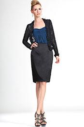 eDressit New Lady Black Lace Short Jacket Coat (03111600)
