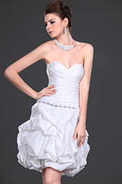 eDressit New Adoral White Strapless Party Dress (04115107)