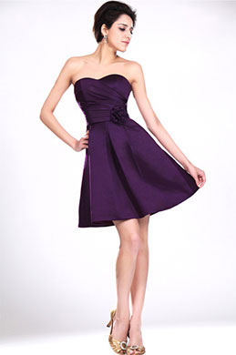 eDressit New Strapless Purple Bridesmaid Dress Party Dress (07111206)