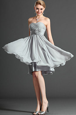 eDressit  Strapless Grey Bridesmaid Dress (07120108)