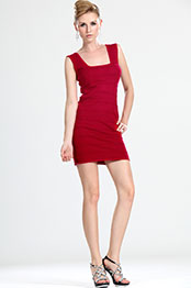 eDressit New Arrival Red Knitted Outfit Day Dress (32110502)