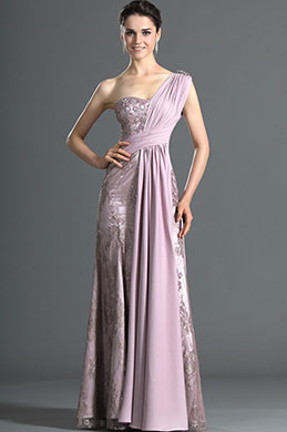 eDressit Gorgeous One Shoulder Pleated Lace Evening Dress (00121216)