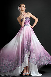 eDressit New Strapless Printed Evening Dress (00121568)