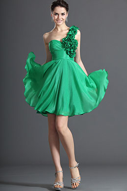 eDressit Simple One Shoulder Green Cocktail Dress Party Dress (04122604)