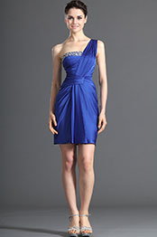 eDressit One Shouder Beadings Blue Party Dress (04122905)