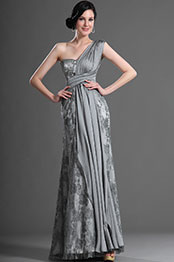 eDressit Fabulous Gray One Shoulder Evening Dress (00121208)