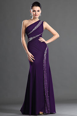 eDressit Charming One Shoulder Pleated Evening Dress (00127106)