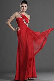 eDressit Stylish Red One Shoulder Evening Dress (00127202)