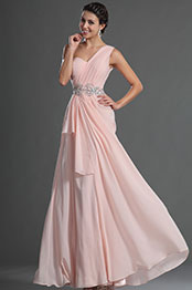 eDressit Glamorous Light Pink One Shoulder Evening Dress (00129301)