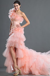 eDressit One Shoulder Pink Flowers Evening Dress (02121401)