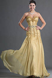 eDressit Strapless and Sweetheart Yellow Fitted Bodice Evening Dress (02121824)
