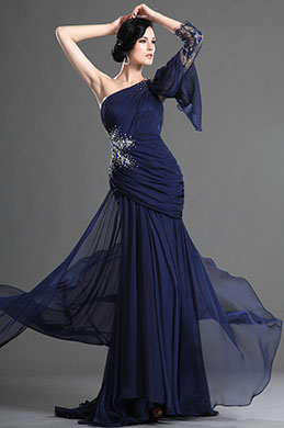 eDressit Charming Fitted One Shoulder Dark Blue Evening Dress (02122005)
