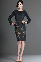 eDressit Long Sleeves Black Day Dress Wear to Work (03123900)
