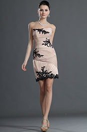 eDressit Stunning Strapless Black Lace Cocktail dress (04124314)