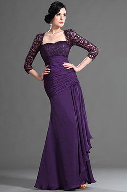 eDressit Elegant Purple Sleeves Mother of the Bride Dress (26124906)