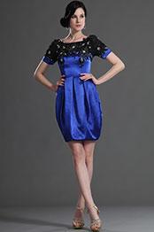 eDressit Short  Sleeves Blue Mother of the Bride Dress (26125405)