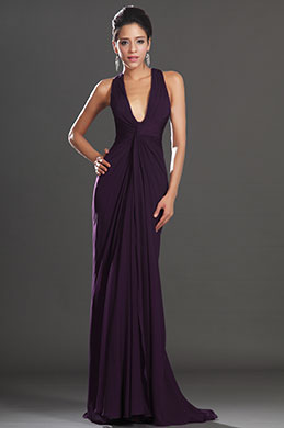 eDressit New Adorable Halter Dark Purple Evening Dress (00130806)
