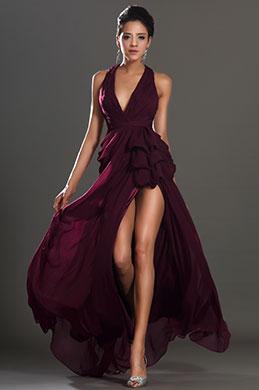 eDressit New Stylish Halter V cut High Split Evening Dress (00131117)