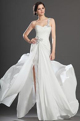 eDressit  Neu Artikel Großartig Hoche Spalt Weiß Abendkleid (00131907)