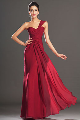 eDressit New Amazing Red One Shoulder Sweetheart Neckline Evening Dress (00132002)