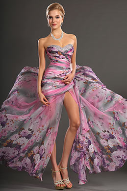 eDressit New Sweety Strapless Printed Evening Dress Party Dress (00134768)