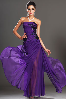eDressit New Gorgeous Strapless Purple Evening Dress (00135006)