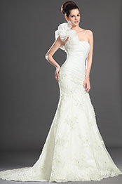 eDressit Lordly  One Shoulder Lace Wedding Dress (01130407)