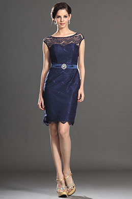 eDressit New Elegant Cap Sleeves Lace Party Dress Day Dress (03131305)