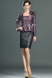 eDressit Elegant Strapless Dress with Jacket Mother of the Bride Dress Day Dress (26130706)
