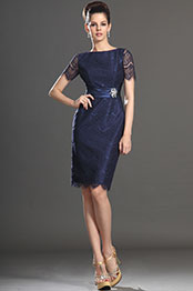 eDressit New Arrival Short Sleeves Dark Blue Mother of the Bride Dress (26132505)