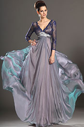 eDressit New Arrivals Sleeves Sexy Deep V-Neck Mother of Bride Dress (26133306)
