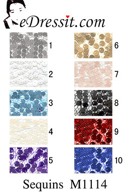 eDressit Sequins M1114 Fabric