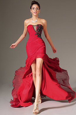 eDressit Stunning Red High Split Strapless Evening Dress (00134602)