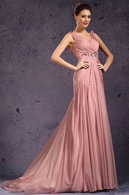 eDressit New V-cut Handmade Flowers Evening Dress (00136046)