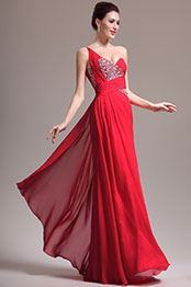 eDressit New Gorgeous One Shoulder Beadings Red Evening Dress (00137002)