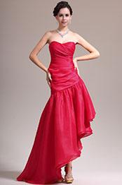 eDressit New Stylish Strapless Red Asymmetric Evening Dress (00137302)