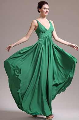 eDressit Adorable Verde Sexual Escote en V Vestido de Fiesta Largo (00137404)