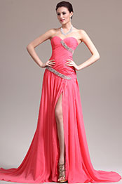 eDressit New Gorgeous Pleated Sweetheart Beadings Evening Dress (00138757)