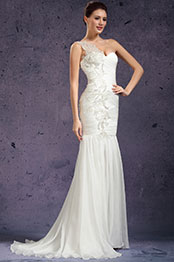 eDressit New One Shoulder Fabulous Evening Dress Wedding Gown (01131107)