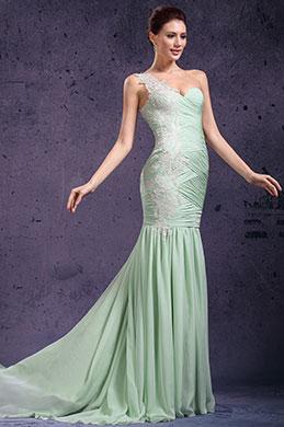 eDressit  очаровательное слабозелённое свадебное платье с одной бретелькой & декольте (02132004)