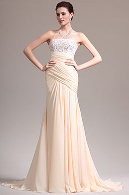 eDressit New Elegant Strapless Lace Evening Dress (02133814)