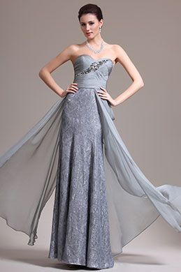 eDressit New Elegant Sweetyheart Strapless Lace Evening Dress (02134308)
