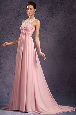 eDressit New Gorgeous Chiffon Halter Evening Dress Pink (02134401)