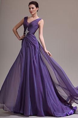 eDressit 2013 Neu Sexy V-Ausschnitt Perlen Abendkleid (02134506)