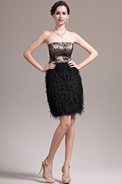 eDressit New Fabulous Strapless Little Black Cocktail Dress Party Dress (04135700)