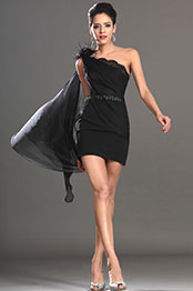 eDressit 2013 S/S Fashion Show Black One Shoulder Cocktail Dress Party Dress (F04130100)