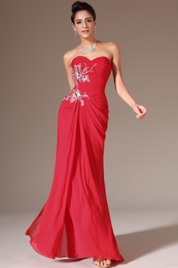 eDressit Red Strapless Sweetheart Lace Prom Evening Dress (00140702)