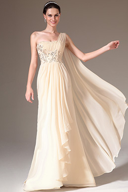 eDressit Beige One-Shoulder Embroidered A-Line Prom Dress (00141414)