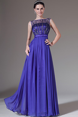 eDressit Sequined Sheer Top Sleevless Prom Dress (00142805)